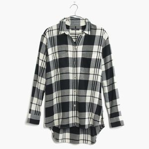 Madewell Flannel Oversized Boyshirt